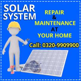 Solar panels repairing and installation with 100% satisfaction