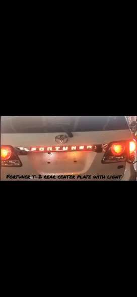 Fortuner type 2 dicky garnish with led