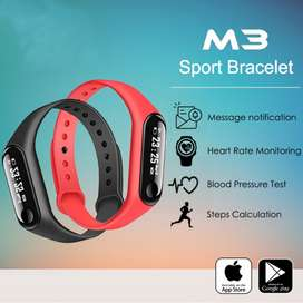Generic M3 Smart Watch Bracelet 0.96 Inch Color LED Sports Pedometer B