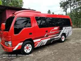 Lanjutkan pusat rental sewa mobil elf Hiace bus Sewa elf Haice bus bis