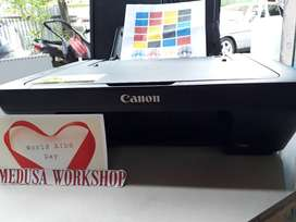 Printer Canon Seri MG2570 - Catdrige Masih Segel + Kabel + Infus