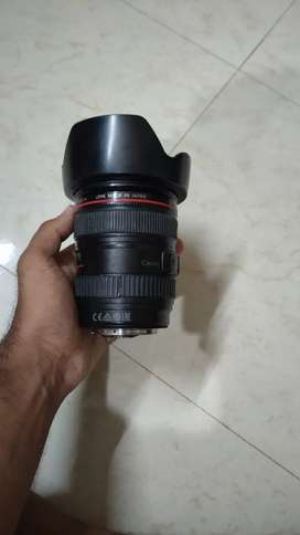 Canon 24.105 on is lens cleeen pees
