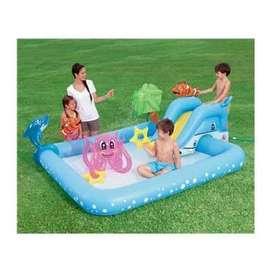 kolam renang anak plus perosotan