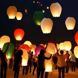 flying sky lantern lampion terbang