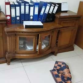 Dijual lemari TV jati