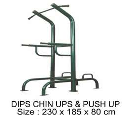 JUAL ALAT FITNES OUTDOOR TERMURAH - DIPS CHIN UPS & PUSH UP