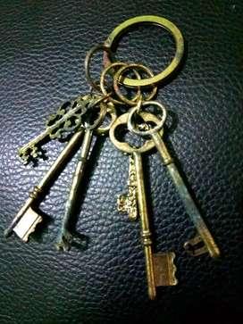 Gantungan kunci, kunci
