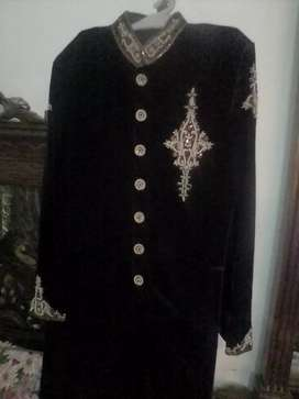 Sherwani  colour black sale 8500