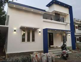 ATRACTIVE NEW 3 BED ROOM 1400SQ FT 4.8CENTS HOUSE IN NADATHARA,THRISUR