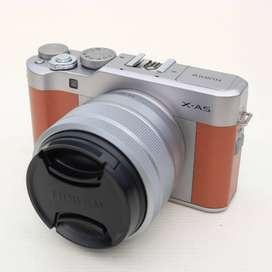 Fujifilm X-A5 kit 15-45 OIS PZ BROWN kode 0907D19