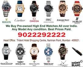Rolex Airking Cartier Breitling, Patek , Pre Owned Watch buyers