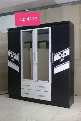 Mjb mebel - promo lemari hitam putih 4pintu murah