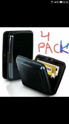 Pack Of Four Aluma Wallet Resistant Card Protect Holder 6 pockets
