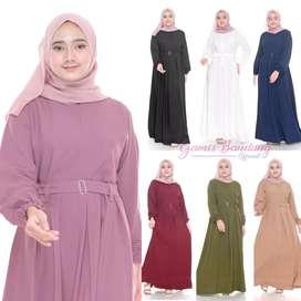 Dress Gamis Muslimah Polos Grosir dan Ecer