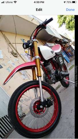 Honda cg125 converted into trail