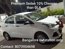Premium Sedan 10% cheaper than Ola. Hurry do advance booking Now !!!
