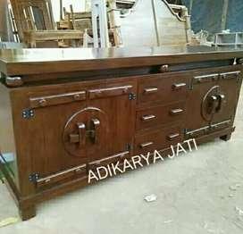 Meja tv antik grobok  adikarya kayu jati..