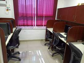 NEWLY FURN OFFICE FLOOR AT 35000/- INCLUSIVE OF EB INTERNET