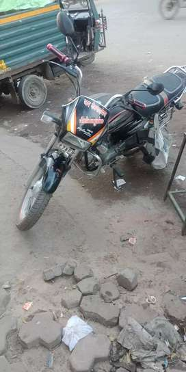Very good condition tip top bike and  kick start