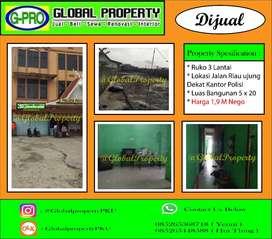 Dijual Ruko Jalan Riau Disamping Kantor Polisi Kota