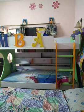 Imported Bunk Bed with mattress, separate stairs & Drawers