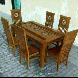 Meja makan jati 2550