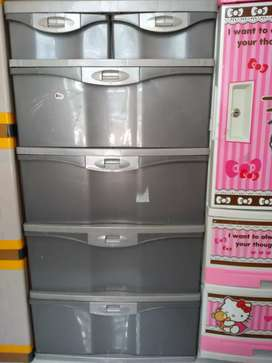 Lemari plastik lion star susun 6 laci drawer