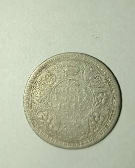 1/4 RUPEE INDIA COIN YEAR 1945