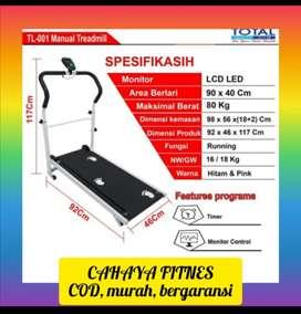 Alat fitnes treadmill manual mini 1 fungsi promo murah