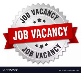 Female and male airport job vacancy