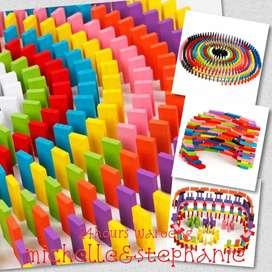 SAY11-Balok Domino 120PCS Mainan Edukasi Balok Mainan Anak