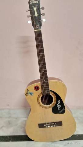 Grason vintage acoustic guitar with bag and pick