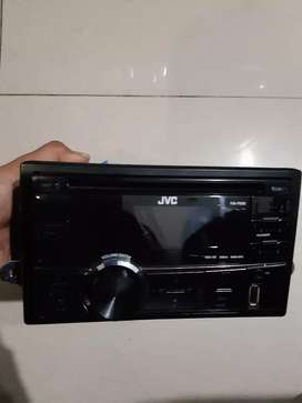 Head unit JVC tape double din honda brio