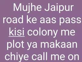 Mujhe Jaipur road haldiram payau tak makan ya plot chahiye