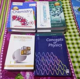 Modern ABC+ chemistry, H.C.Verma physics ,R .D.Sharma maths
