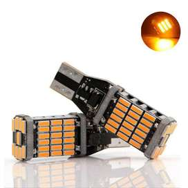T10 High Power 45SMD Parking Lights white / Orange (Free Delivery)