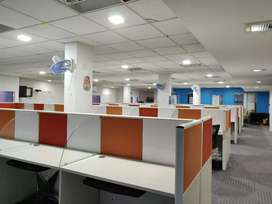 Plug n play office with 70workstations rent at madhapur