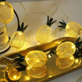 10 LED Pineapple Fairy String Lights Indoor & Outdoor