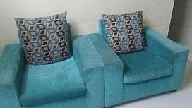 Blue color sofa set