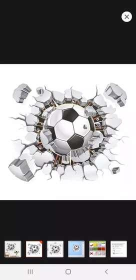 Sticker poster dinding  import motif soccer murah