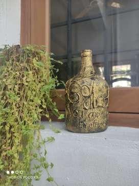 Antique style bottle art
