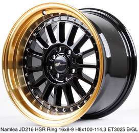 all new NAMLEA JD216 HSR R16X8/9 H8X100-114,3 ET30/25 BK/GOLD