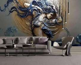 wallpaper dinding custom 3d