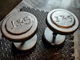 17.5 kg New Dumbbell pair,