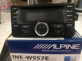 Jual murah Tape mobil Alpine + Bonus 2 Speaker
