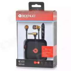 BIDENUO G500 Earphone With Microphone - RED ( LAST ITEM)