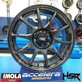 Velg Mobil Racing Yaris Calya Ayla Ring 16x7 Pcd 8x100-114,3 ET42 HSR