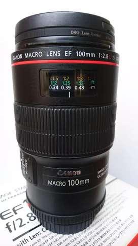 Canon 100mm F2.8 L IS USM Lensa Makro