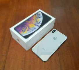 iPhone XS Max 256GB Silver Dual Sim Nano Original FullSet Ori Bawaan
