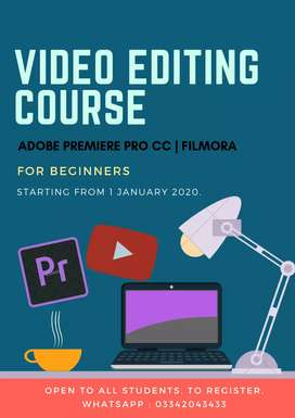 Video Editing Course starting from 1 january 2020.
